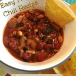 Easy Chili Recipe — Vegetarian or Add Meat