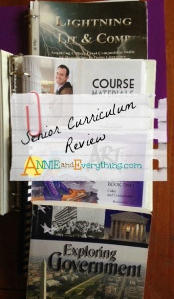 Senior Curriculum Homeschool Reviews