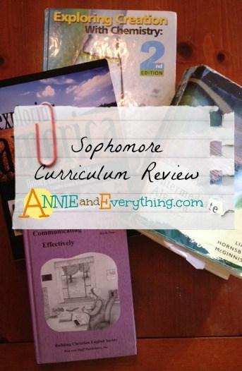 Sophomore Curriculum Homeschool Reviews