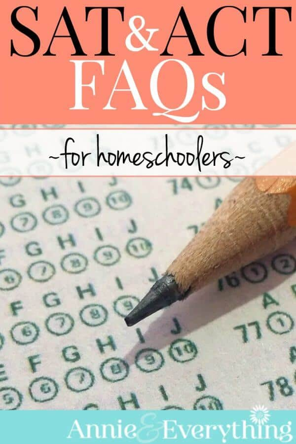 Got questions about college entrance exams? I've got answers to the most common questions, so you will know what to do for your homeschool student!