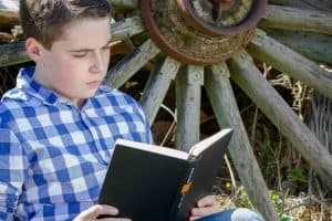 A list of good books for boys ages 8-14 or so. All of them are boy-certified! And I frankly think they're pretty good, too! (And so do the sisters!)