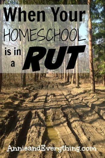 When You Realize Your Homeschool is in a Rut ~ Annie and