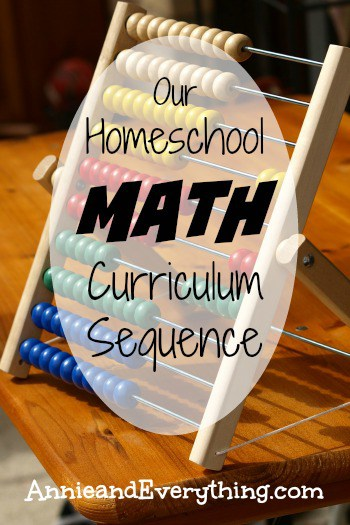 Planning your math curriculum? Here's an inside look at our own math curriculum sequence through the homeschool years.
