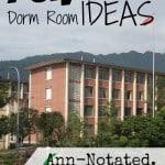 Ann-Notated: Fun Frugal Dorm Room Ideas
