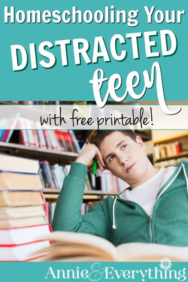 Are your teens easily distracted from their homeschool work? Read to find out how my teens are able to work diligently for hours.