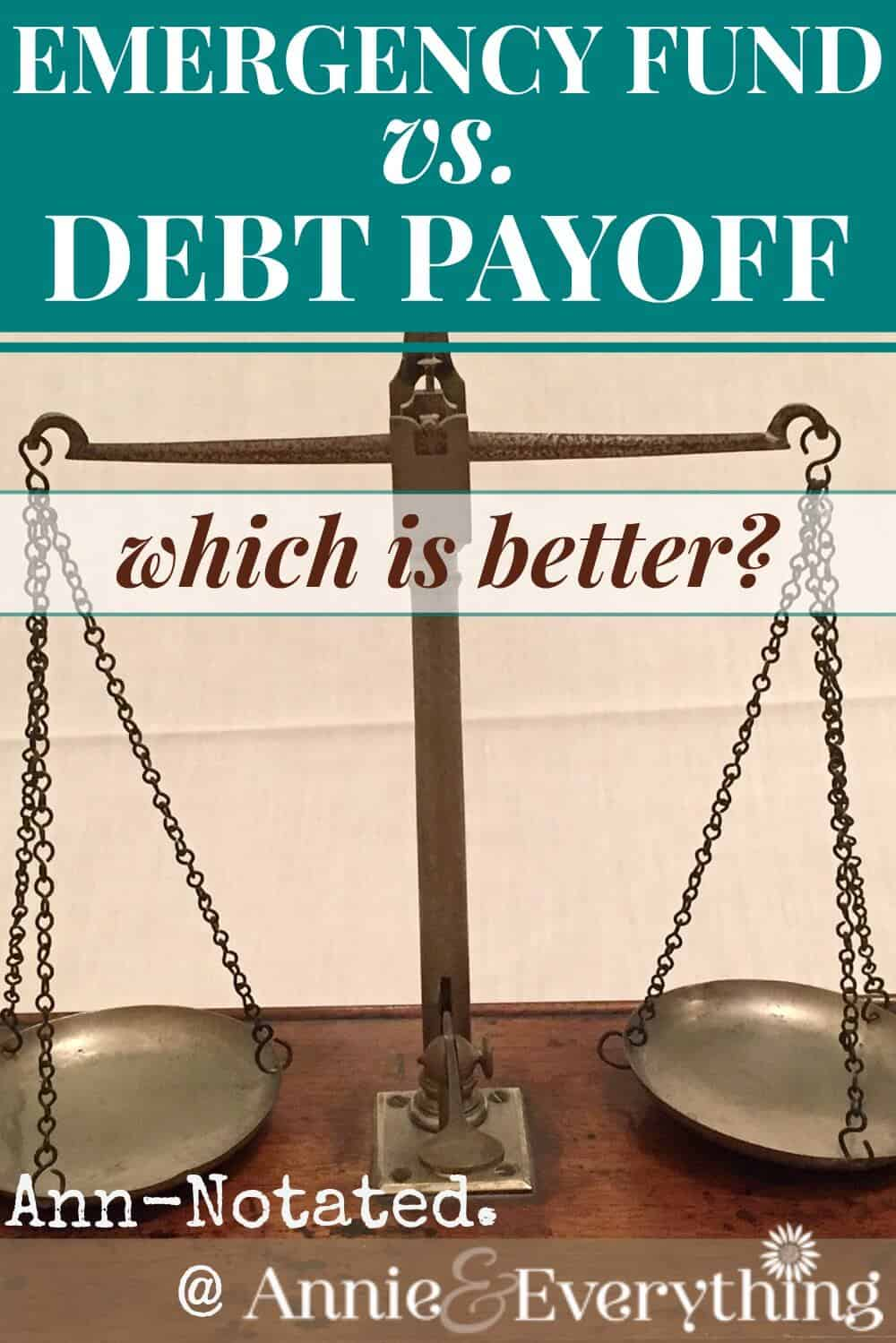 Should you build your emergency fund or payoff debt first? This post has links to articles from the experts answering that very question. It will save you the bother of researching it yourself!