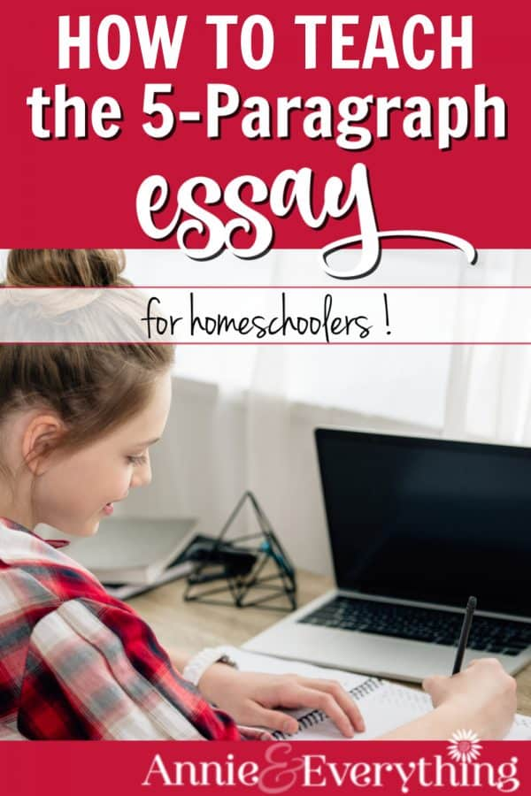 Trying to teach the five-paragraph essay in your homeschool? Here's what we do! Your teen will need to know this skill for the ACT and SAT writing tests.