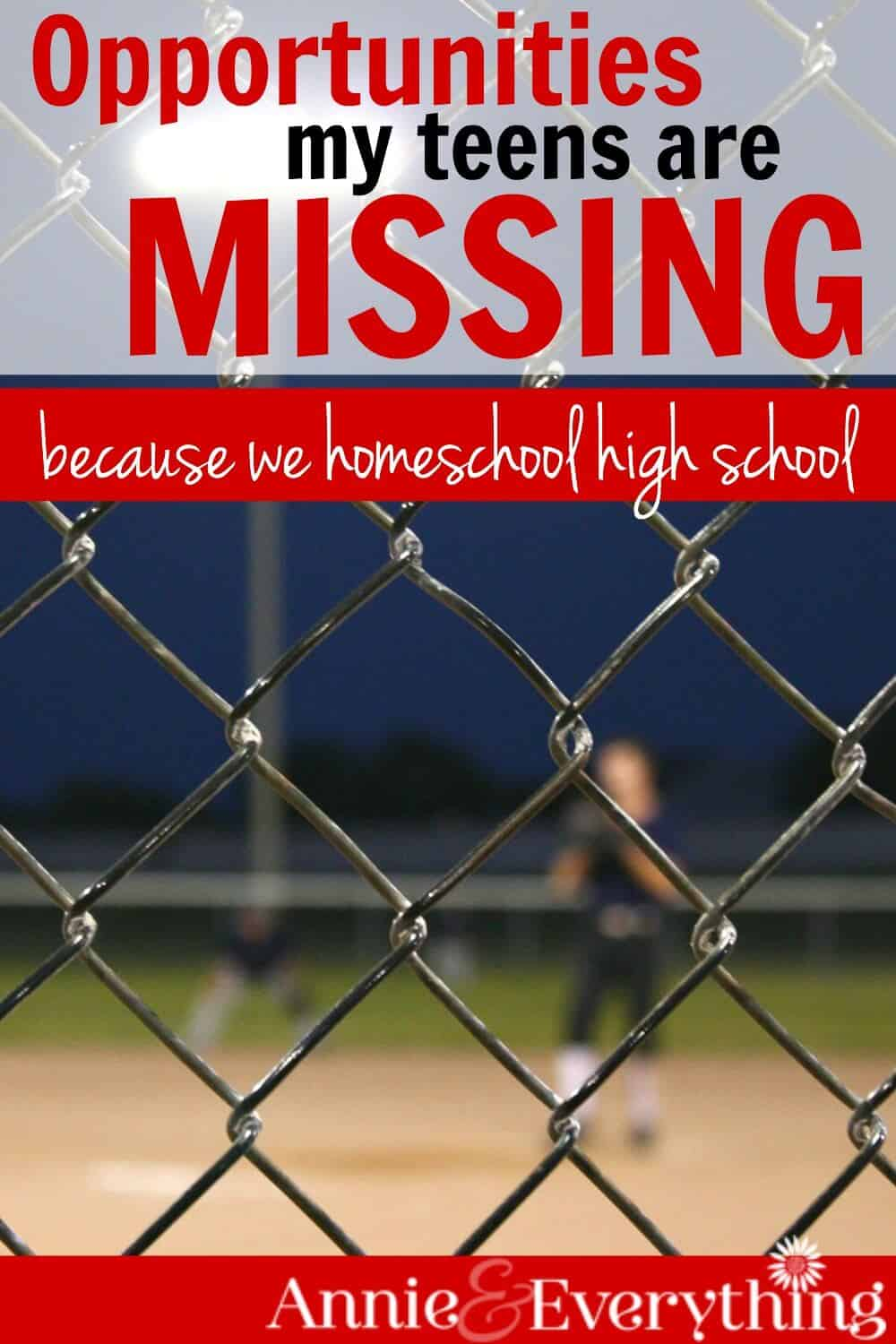 Afraid to homeschool high school because your kids will miss out on great opportunities? Read about our own experience -- it may surprise you!