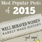 2015 in Review: My Top Ten Most Popular Posts