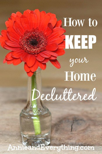 Having trouble keeping your house decluttered once you've gone through all the hard work of getting it organized? Read to find out my simple tip and also get a glimpse of Ruth Soukup's new book, Unstuffed! Today can be the day you start to bring things back under control!