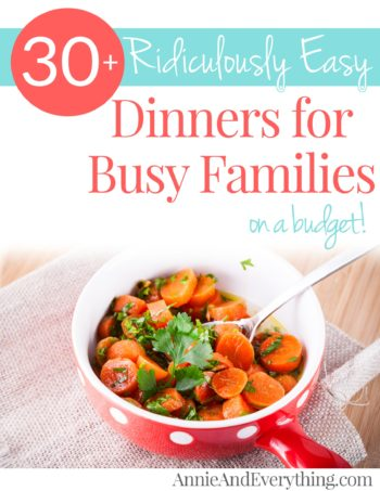 This amazing list of easy dinners will help you find something to put on the table TONIGHT with ingredients you probably already have in your pantry. Old faves made even easier, new ideas to try -- all of them are SO easy and inexpensive, and you can fill a whole month's menu plan right now!