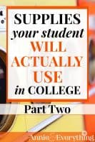 This college supply list is more practical and realistic than any I've seen. And it's based on the real experience of the author's own kids. Don't be fooled by other long lists filled with unnecessary and expensive items!