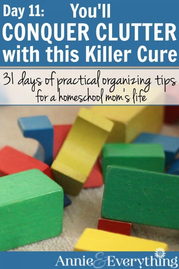 Get rid of clutter with one of the best solutions there is! Find links to more clutter busters and tips to be clutter free. Organization so you can conquer clutter in your home and homeschool!