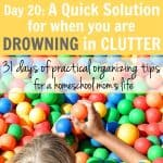 Day 20: A Quick Solution for When You Are Drowning in Clutter