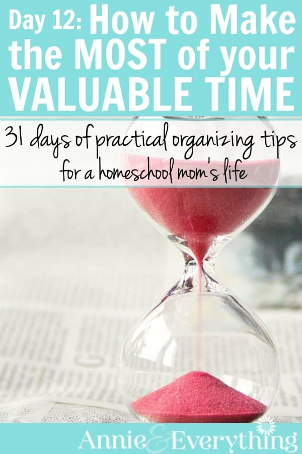 This is one of the time management ideas for how to make the most of your time that really helps you to stay focused, whether it is while cleaning or getting through your mornings and other parts of your daily schedule. Part of a series with other great tips for homeschool moms.