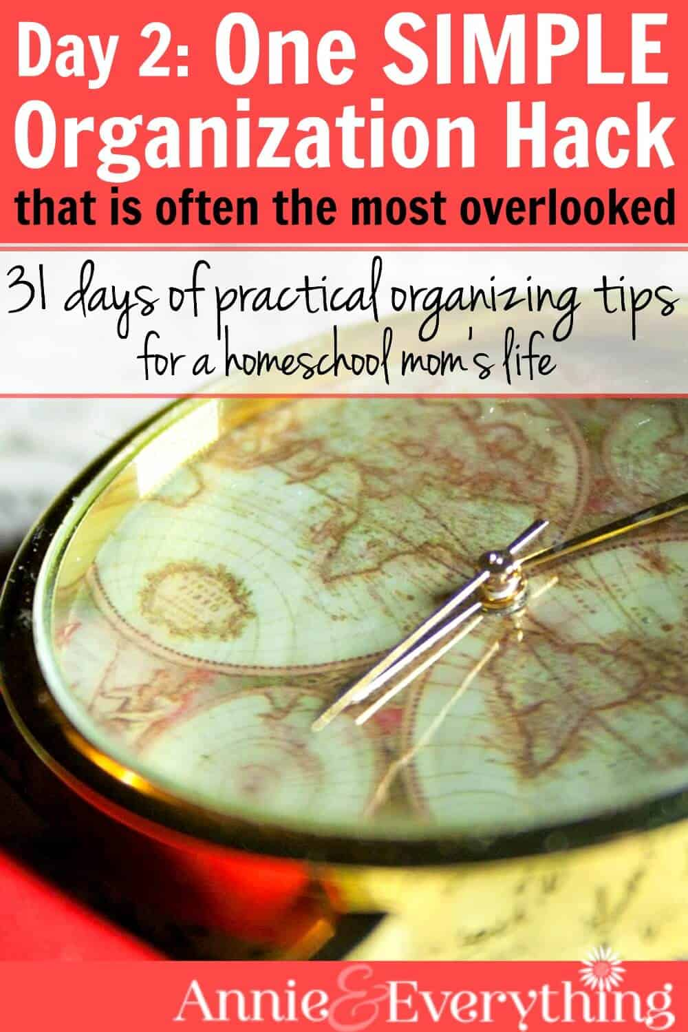 Do you ever feel like your whole day is spent putting out fires? You need this organization hack to help you become more intentional. Part of a series with tips and ideas for organizing school, home, and life!