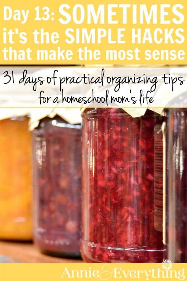 This simple organizing hack is one of the most effective ideas for every room in your home. You'll be able to find things easier and see less mess! Part of a 31-day series full of tips for homeschool moms or anyone who wants to tame clutter and gain control of their life.