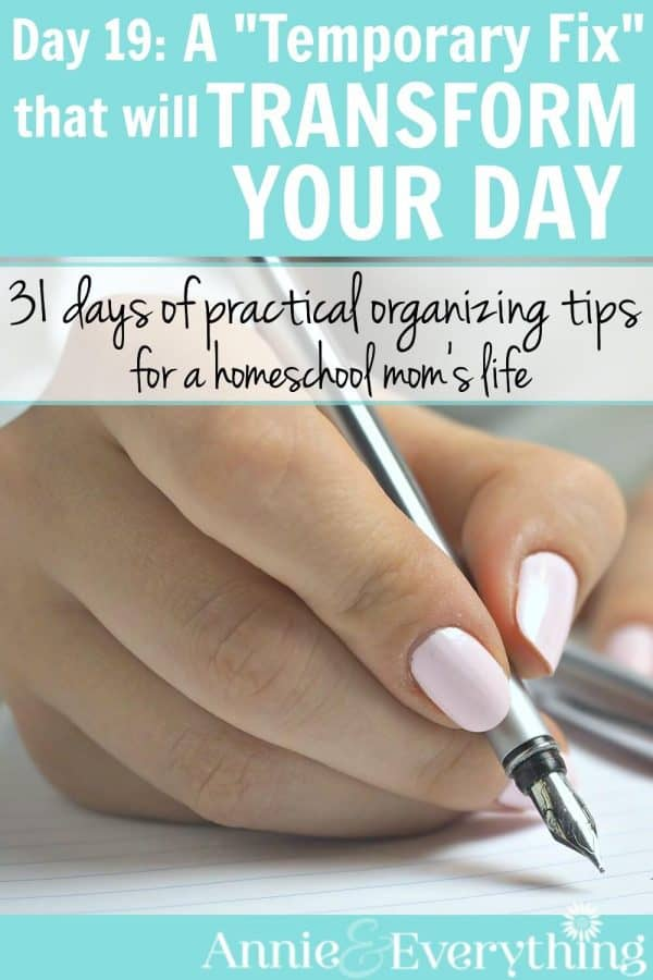 Need help to stay focused at work or in the house? This is one of those time management tips that can revolutionize your productivity. Definitely one of the top life hacks I've tried. Great for your homeschool student, too!