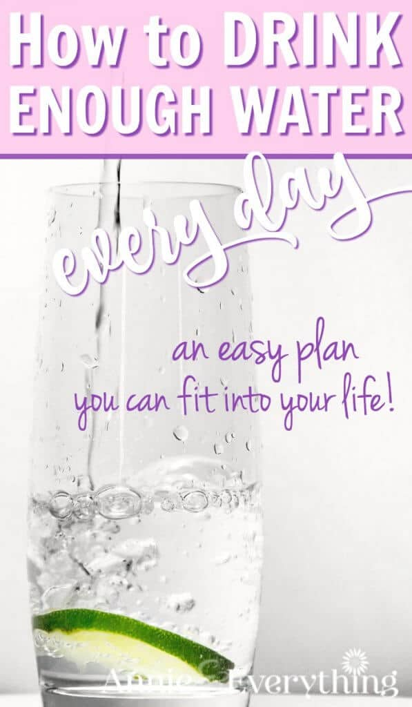 """This is one of the best tips to help you drink enough water EVERY day! And no special products or bottle to buy or make, no """"challenge,"""" no checklist. Just a simple schedule that anyone can fit into their life! Get the health benefits of water, including weight loss and detox, starting right now! #drinkwater"""