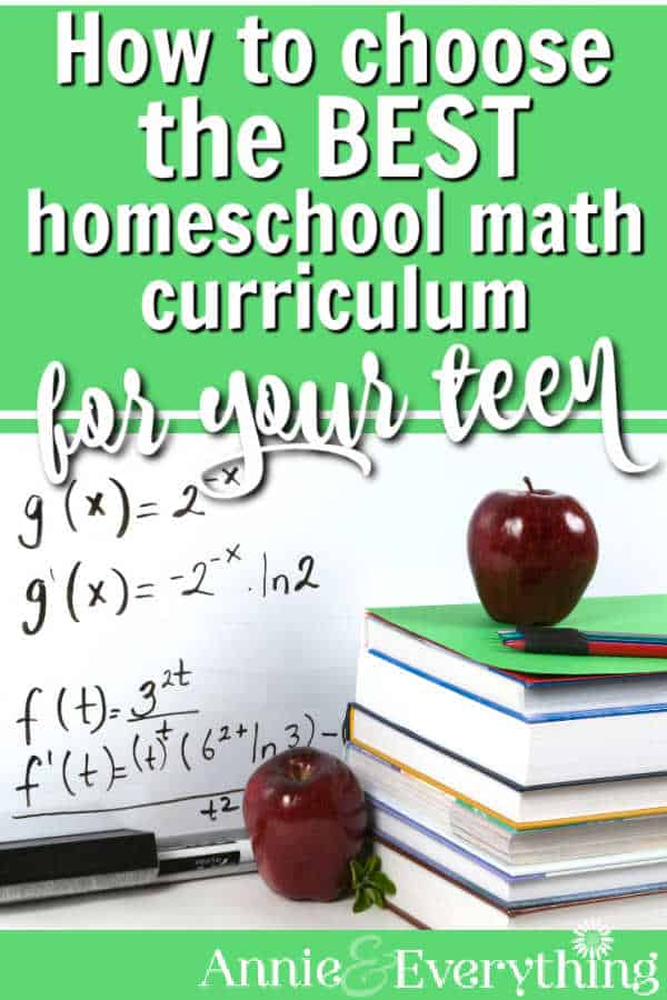 Get all the info to find the best homeschool math curriculum for high school. Lists types with pros/cons of each, plus curriculum reviews.