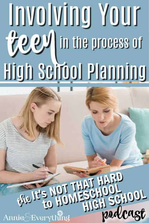 Involving your teen in the homeschool high school planning process is a great idea to keep things running smoothly. Here's how!