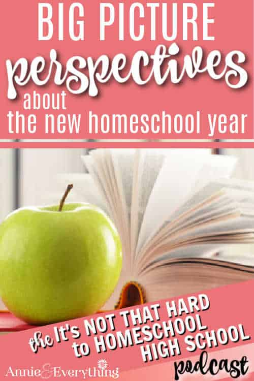 Don't forget the big picture when you are in the midst of planning for the new homeschool year. Be reminded from a veteran homeschool mom.