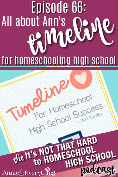 Hear Ann explain all the details of her timeline for homeschooling high school which guides you through the high school years.