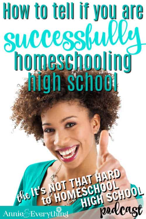 On those bad days it can feel like we are NOT successfully homeschooling high school. Here's what to consider so you can hold your head high!
